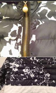 Floral padded fur coat