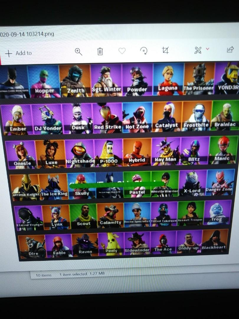 Fortnite Account, 53 skins