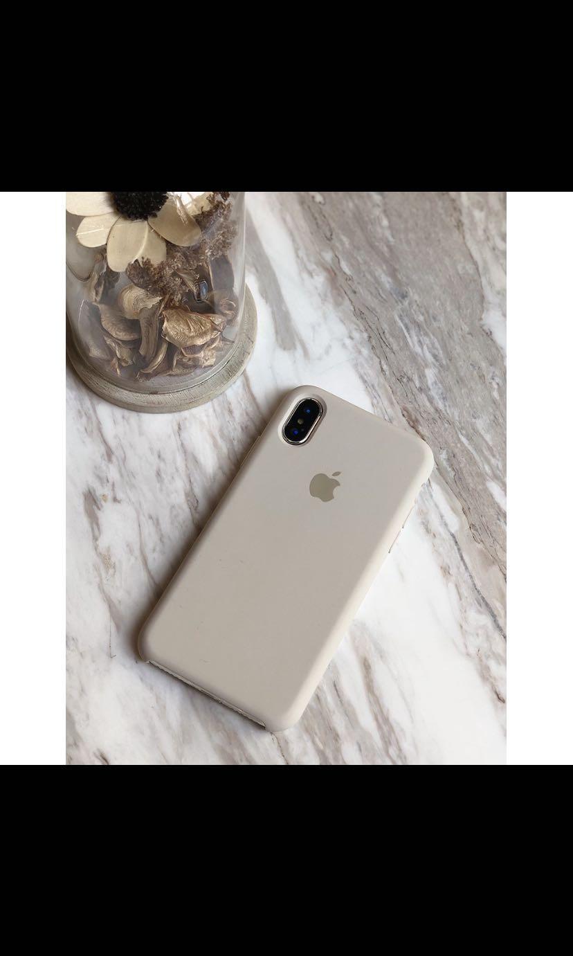 iPhoneXR手機殼 冷淡風(岩石灰)官網 同款全包液態矽膠殼