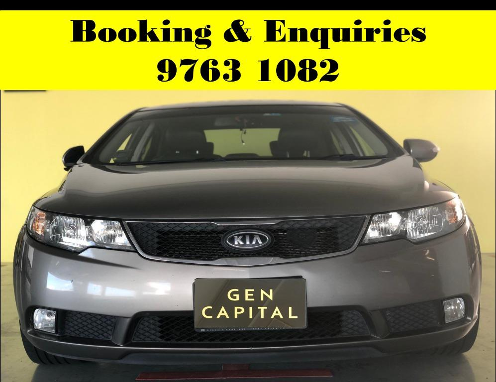 Kia Cerato ! Start of the week rental promotion rate ! PHV or Personal welcome ! cheap & budget car for rent ! Deposit @ $500 ! Whatsapp 9763 1082 to reserve !