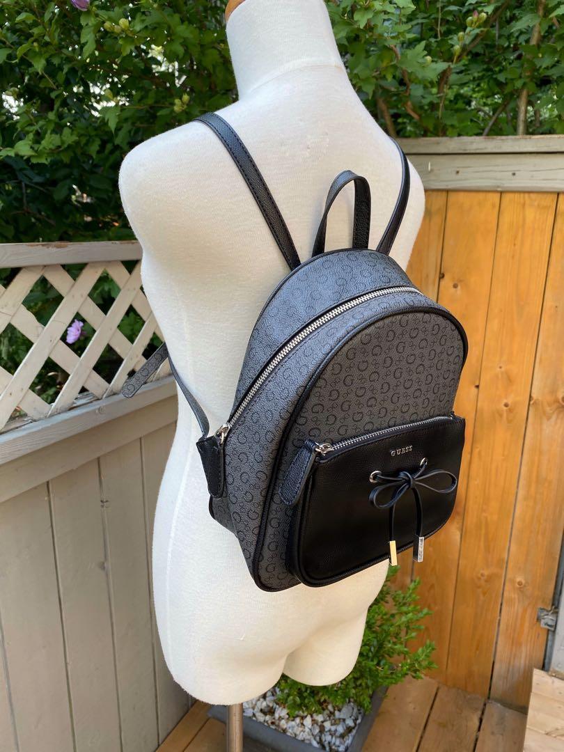 ⭐️LIKE NEW⭐️Guess Grey /Black monogram backpack