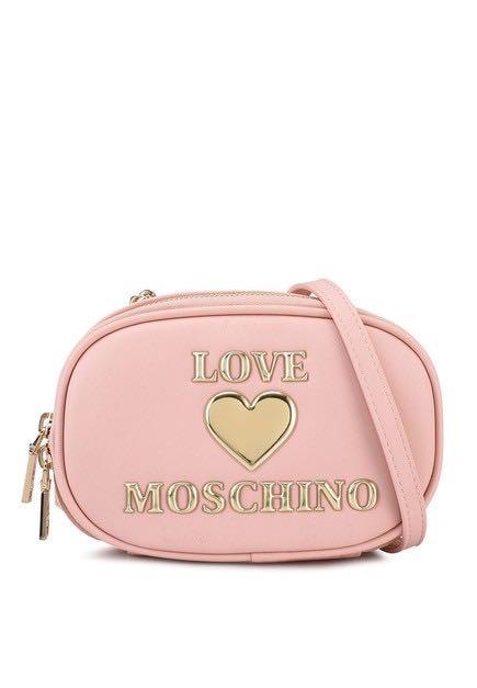 Love Moschino 少女粉色系列 Heart 側背包 斜背包