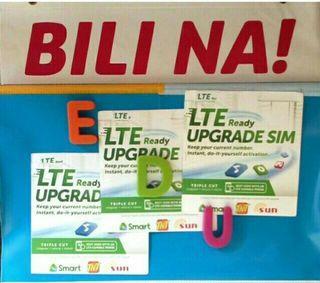 LTE Upgrade sim for smart sun talkntext tnt sim tricut sim triple cut sim