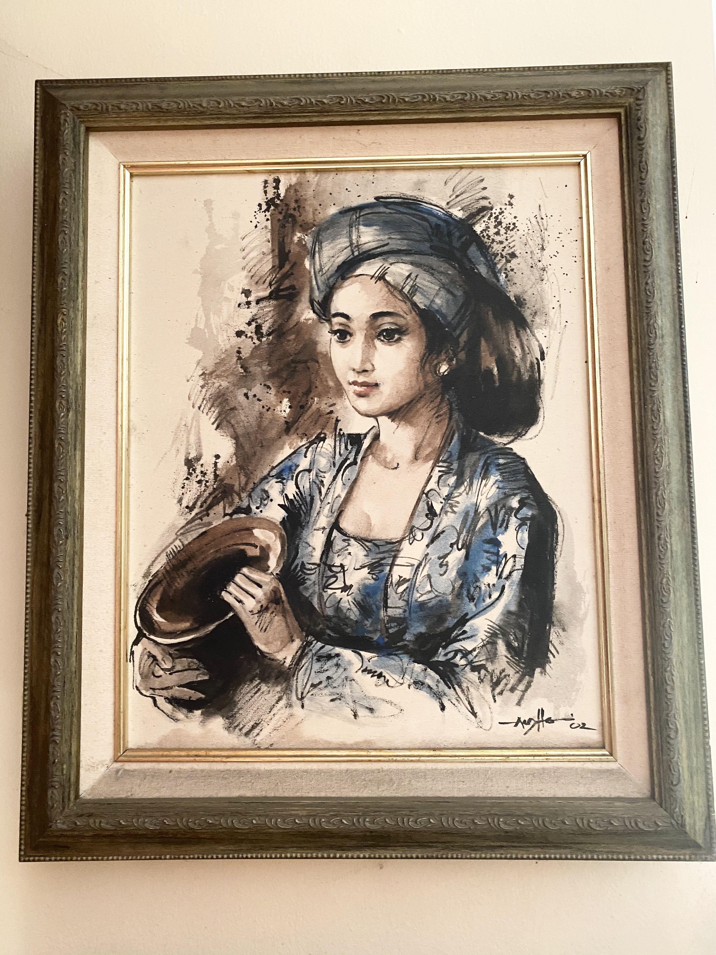 Lukisan Wanita Karya Anshori