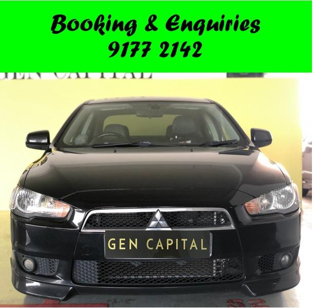 Mitsubishi Lancer EX. Place a partial deposit for better rates! $500 deposit only. Whatsapp 9177 2142 to reserve.Cheap Car Rental. Cheap Car. Budget car.