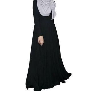 NusheeNurra Basic Flare Dress BLACK