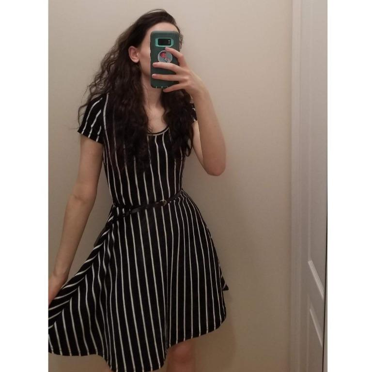 NWOT! Striped Skater Dress