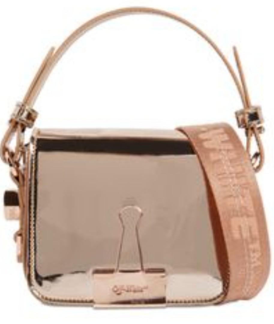 Rtp $1800 OFF-WHITE mirrored effect crossbody bag
