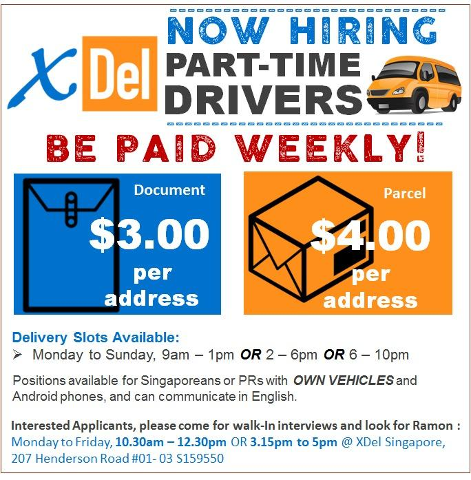 Part-Time Delivery Drivers (Own Vehicles)