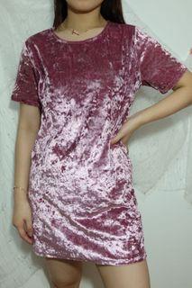 Pink Velvet Dress Shirt