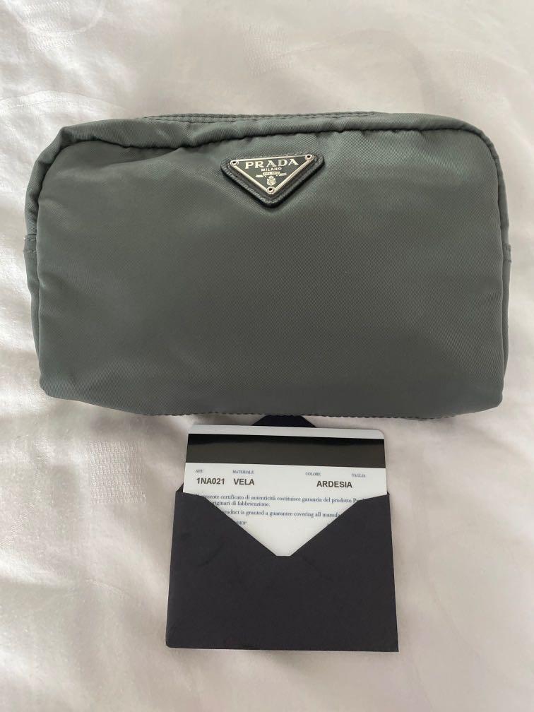 Prada grey pouch