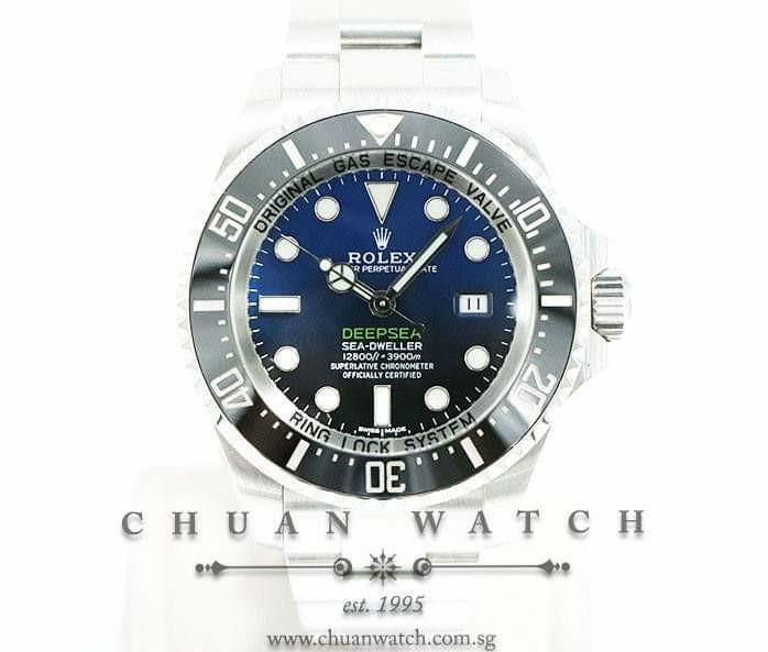 Pre-Owned Rolex DEEPSEA Sea-Dweller D-Blue 44mm 116660 - Discontinued Reference