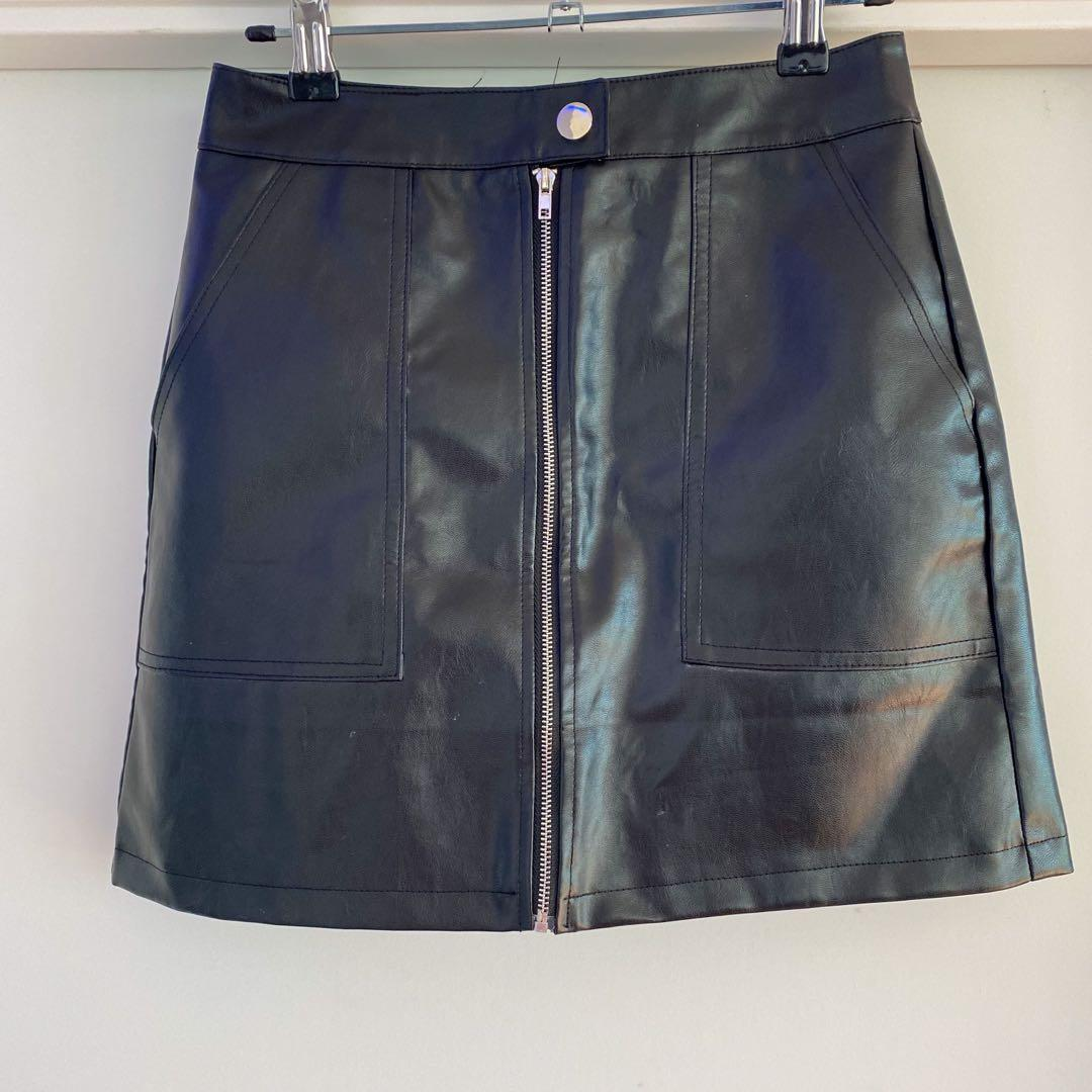 Princess Polly Faux Leather Mini Skirt