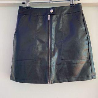Princess Polly Faux Leather Mini Skirt