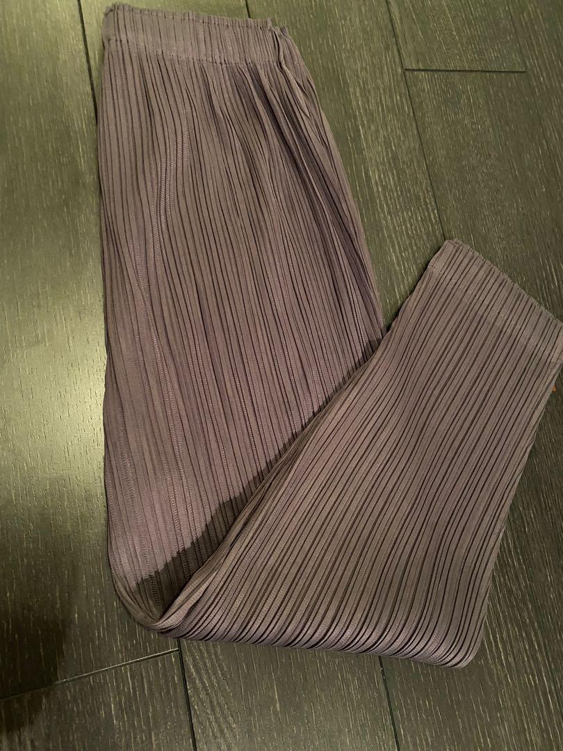 Purple colour oversized pants