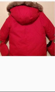 Red Canadiana winter jackt