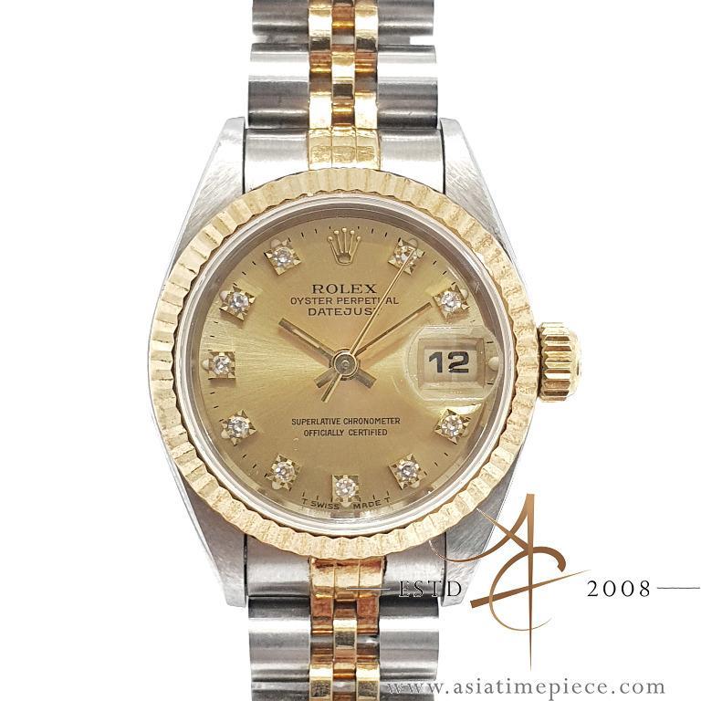 Rolex Datejust Ladies Ref 69173 Diamond Computer Dial (1995)