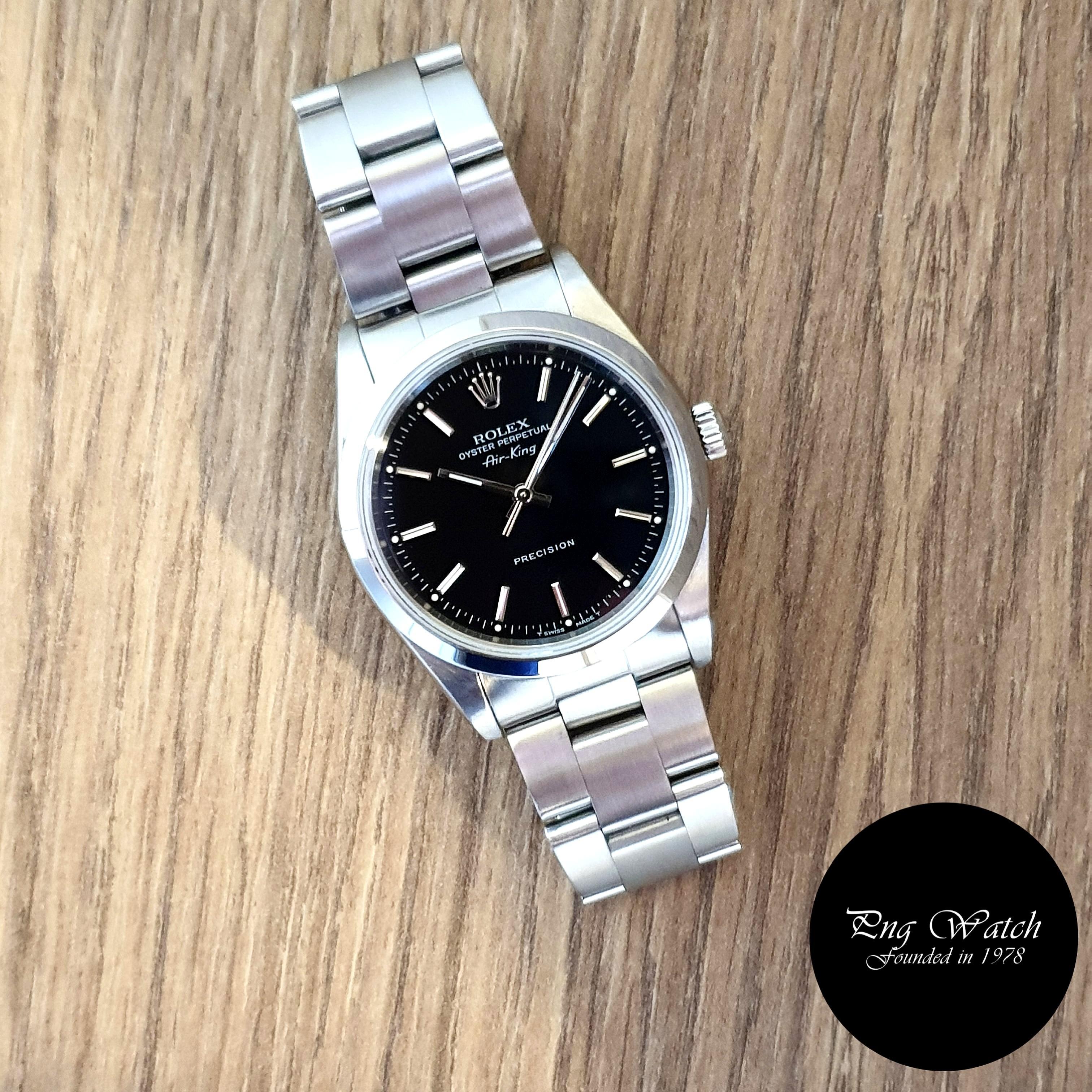 Rolex OP No Date Black Airking REF: 14000 (U)(2)