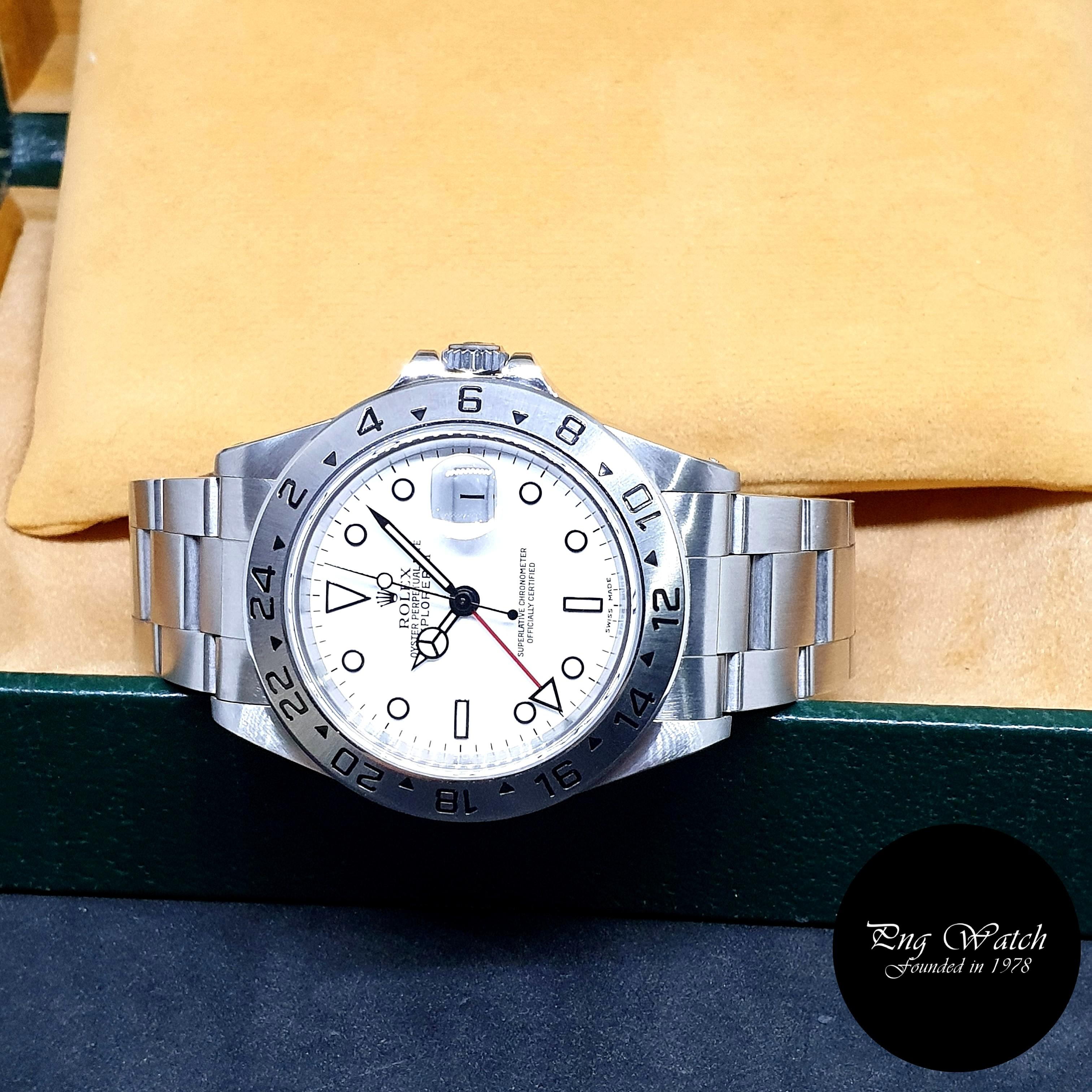 """(NOT AVAILABLE) Rolex Oyster Perpetual White """"POLAR"""" Explorer 2 REF: 16570"""