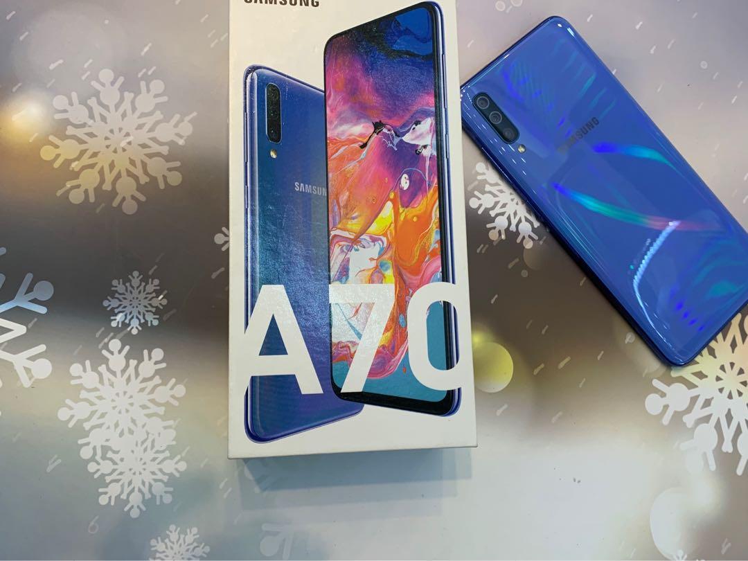 Samsung A70 128G 炫彩藍 二手超極新