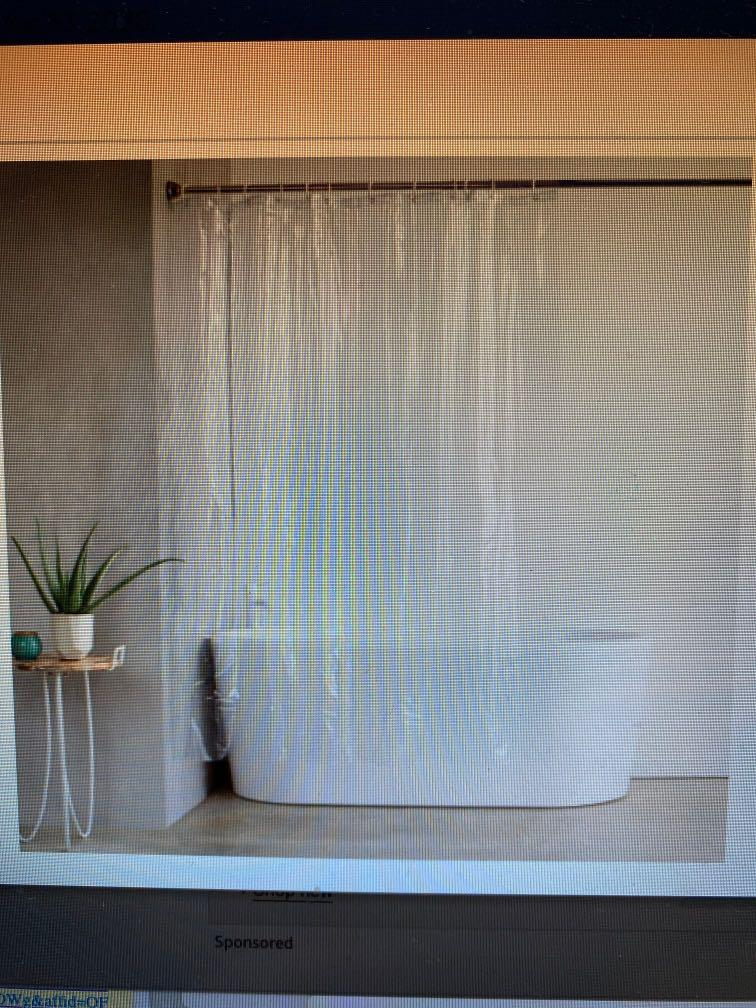 Shower curtain never used