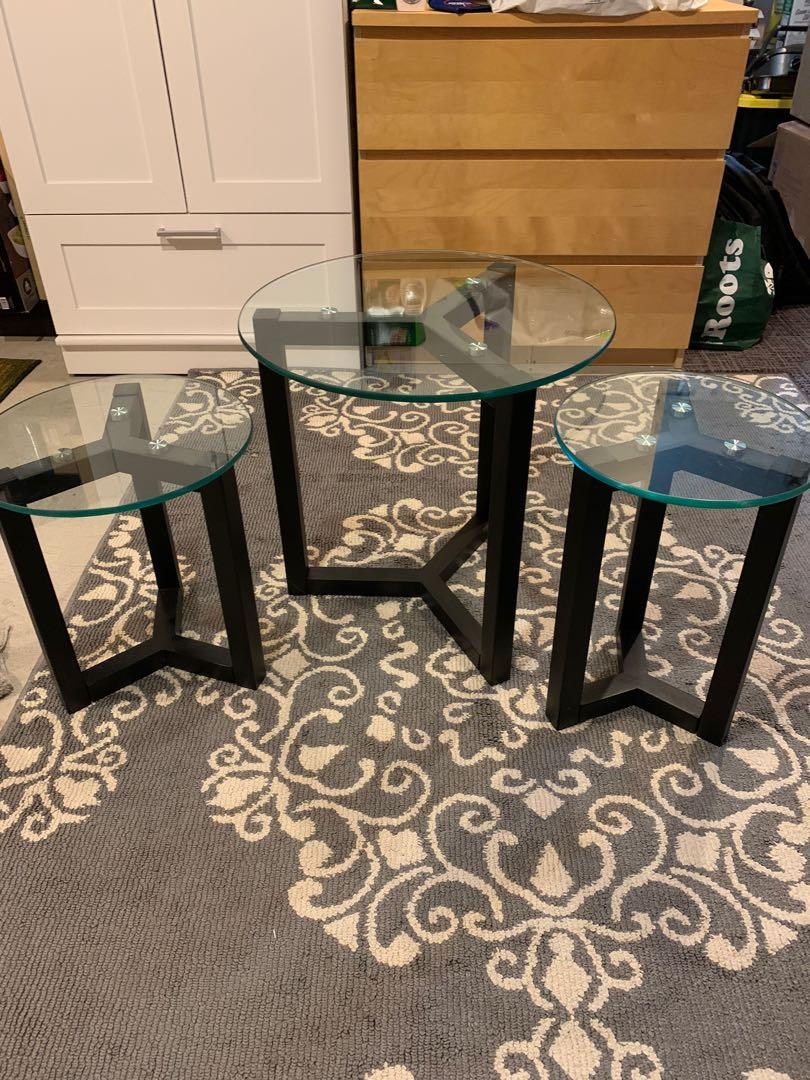 Structube Set of 3 Nesting Tables
