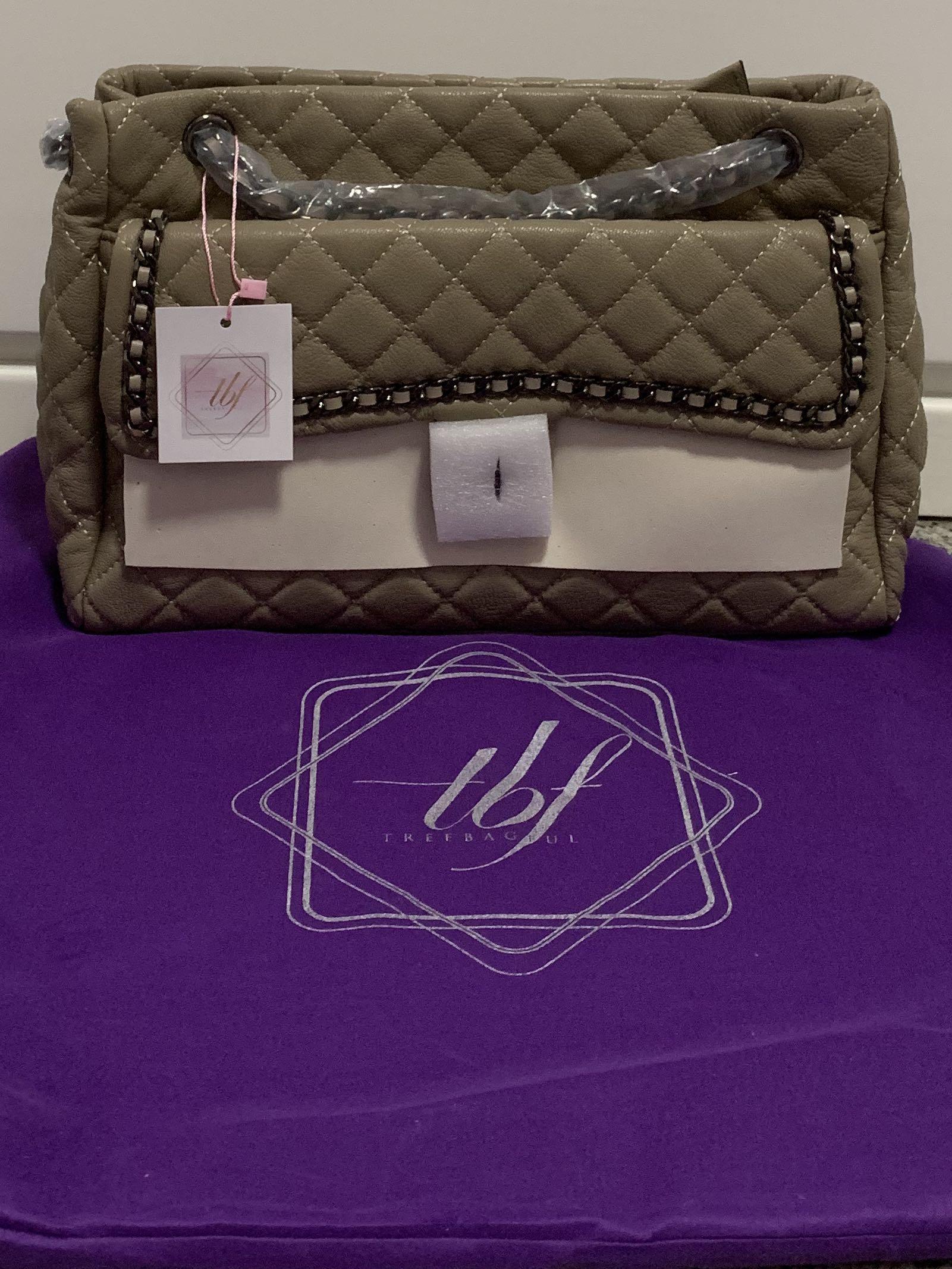 Treebagful genuine leather tote bag