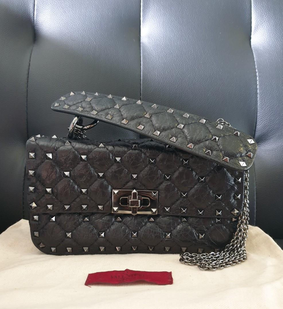 Valentino Garavani Rockstud Spike small chain bag
