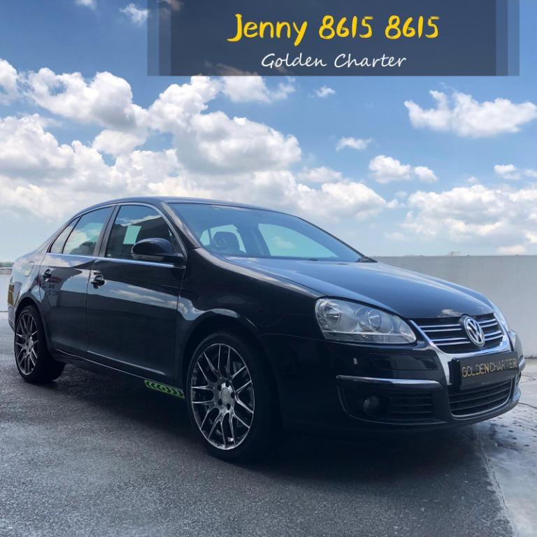 Volkswagen Jetta 1.4a conti car for rent PHV ready drlivery parcel gojek grab long term