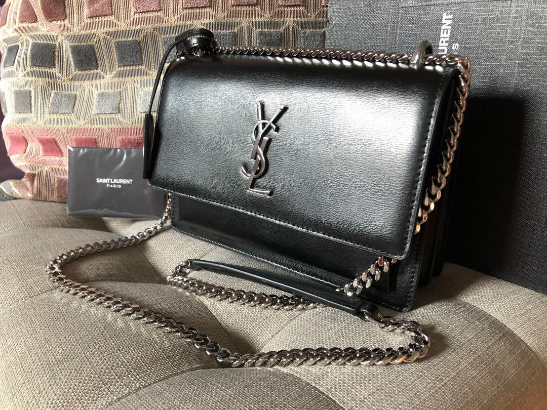YSL Black Leather Purse