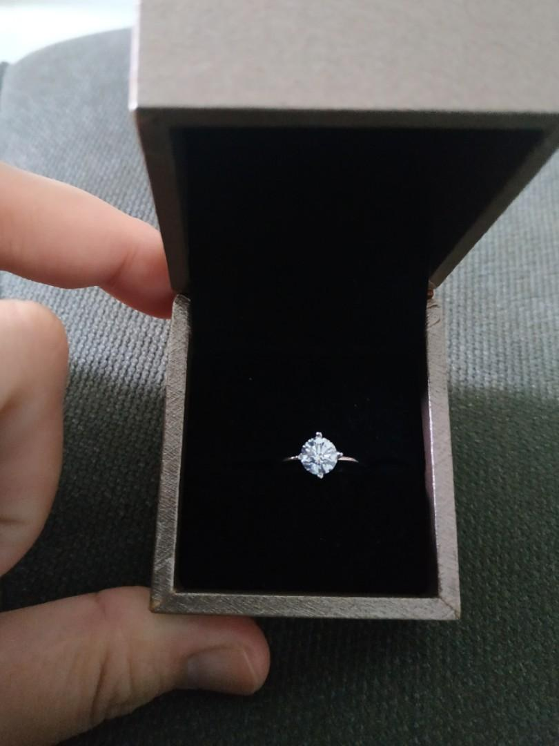0.72 Carat 18K Diamond Ring with GIA Cert