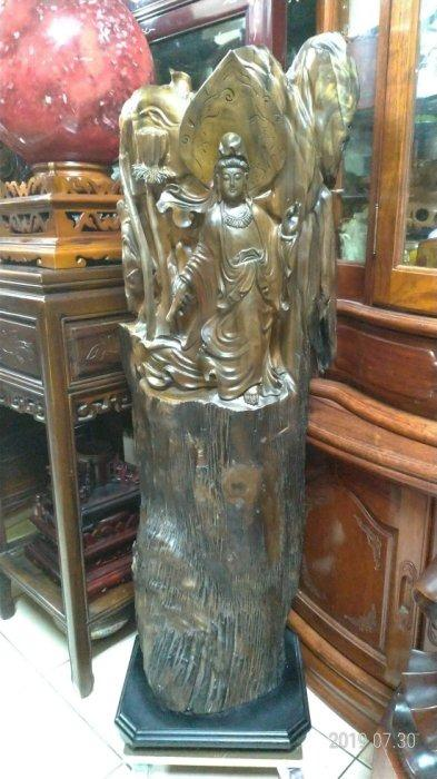 黑紫檀烏木/高117公分寬40公分深30公分重量26公斤/高油,重氣味,造型栩栩如生,收藏上品。