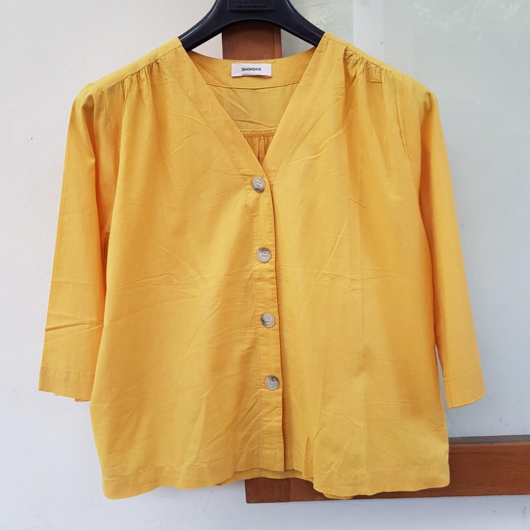 3Mongkis Burnt Yellow Top