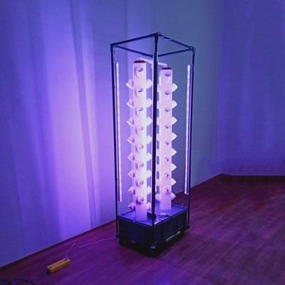 64 pots hydroponics vertical system for home with led lighting