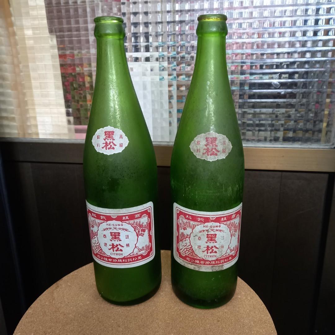 🍾 黑松綠色空瓶早期收藏兩隻398元~自收藏