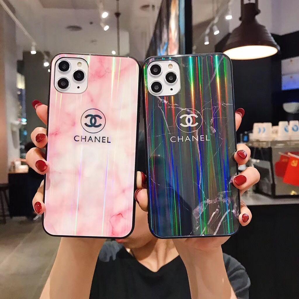 小香風手機殼 歐美 大牌風 小香 全包 大理石玻璃 手機殼 適用於iPhone11 Pro Max i6i7i8 XR 手機殼