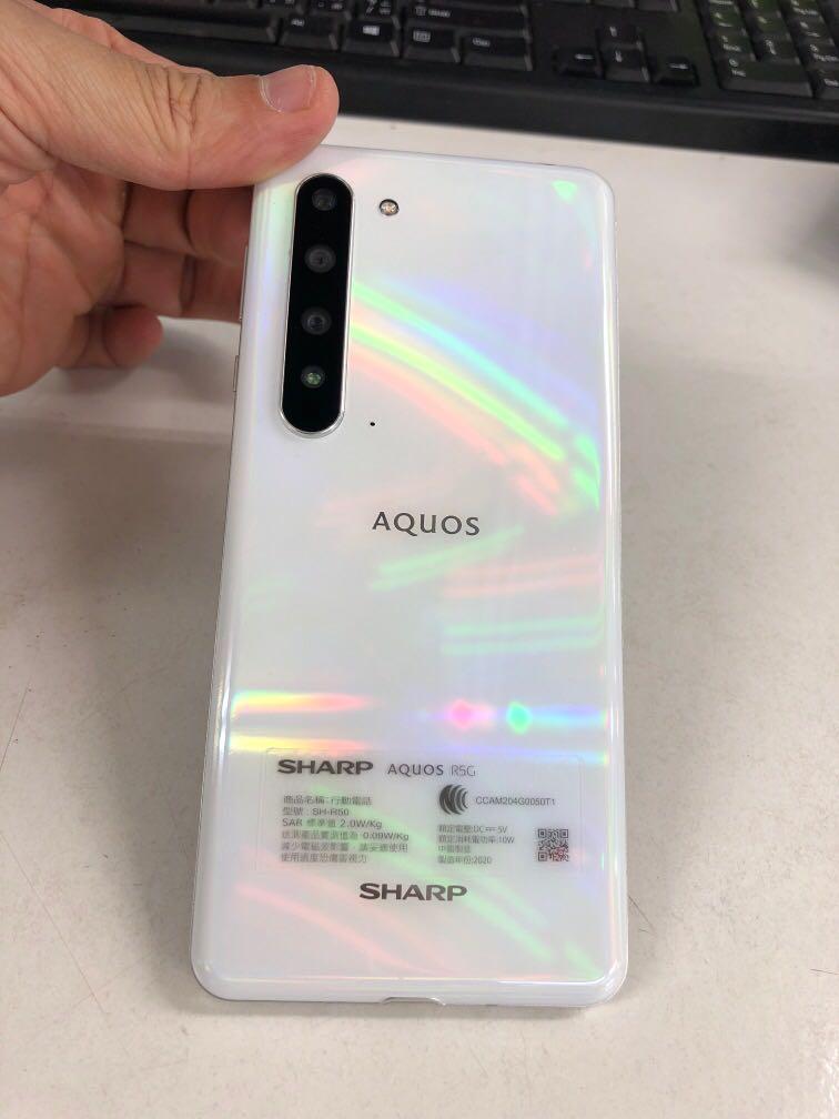 僅拆封 Sharp AQUOS R5G 白色12/256盒裝完整