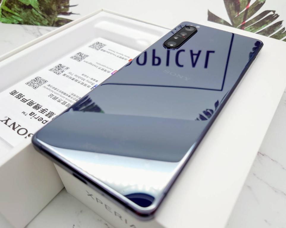 旋轉二手機最優惠 Sony Xperia 1 ll 2代 8G+256G 紫色 盒裝 9.99新 神腦保固到2020年6月24日