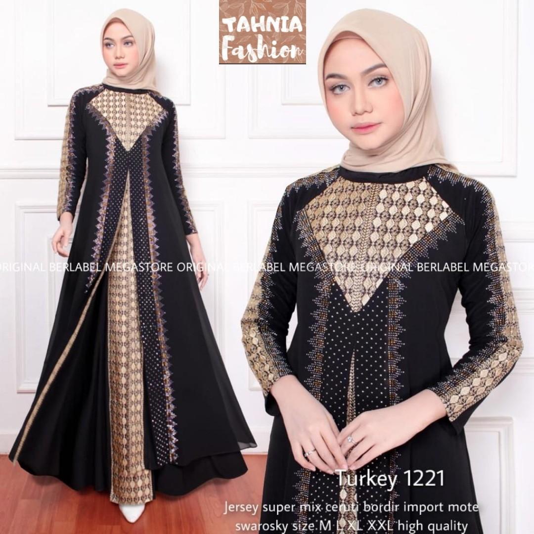 Abaya Turkey / Gamis Kondangan mewah dan elegan