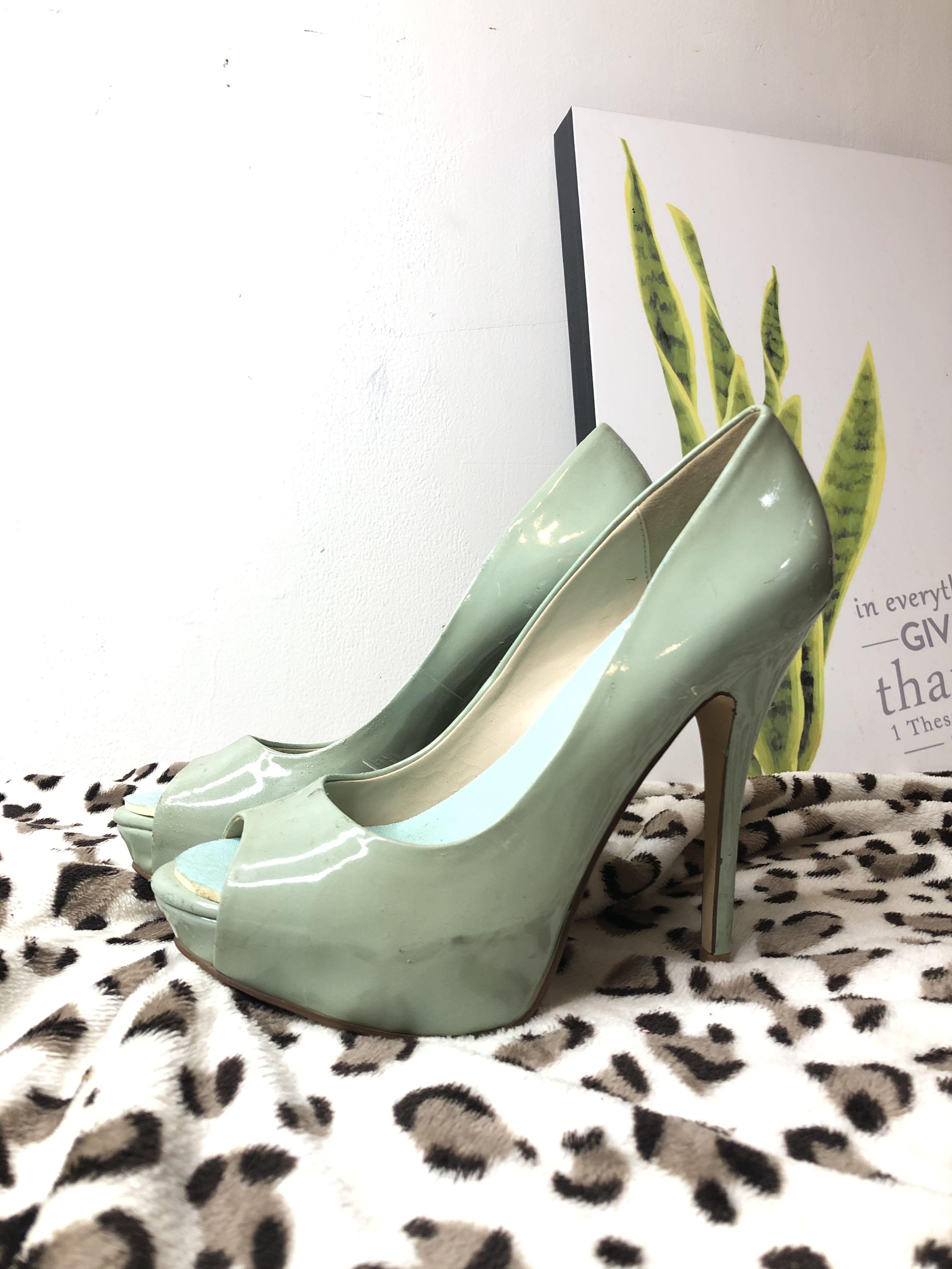 Aldo green tosca high heels