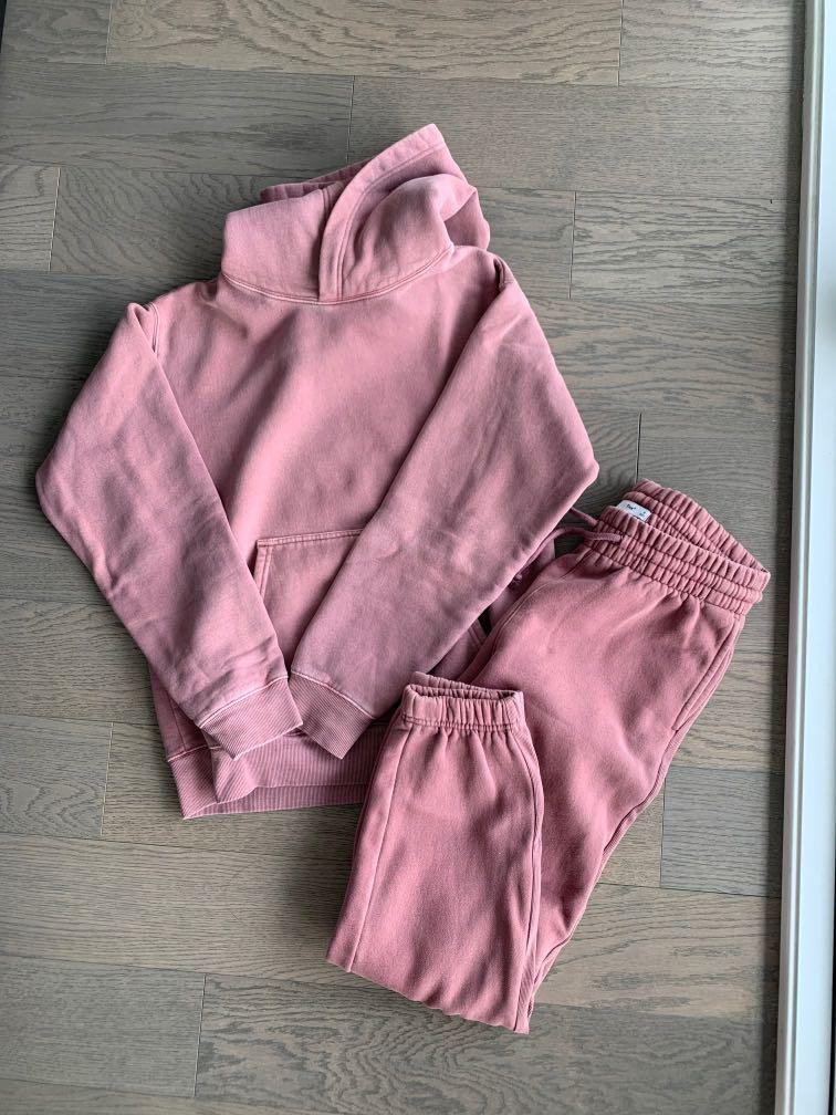 Aritzia Perfect Hoodie and Boyfriend Sweatpants Size small