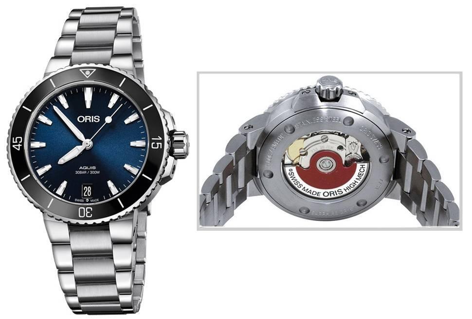 Authentic 01 733 7731 4135-07 8 18 05P - ORIS Mod. AQUIS Lady Watch