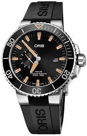 Authentic - ORIS Mod. AQUIS SMALL SECOND DATE Men Watch