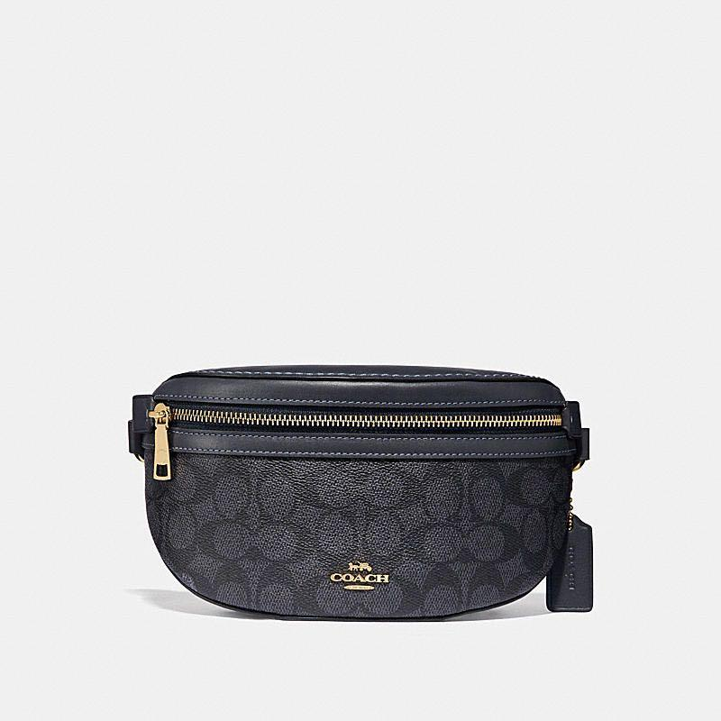 Authentic Coach Belt Bag In Signature Canvas
