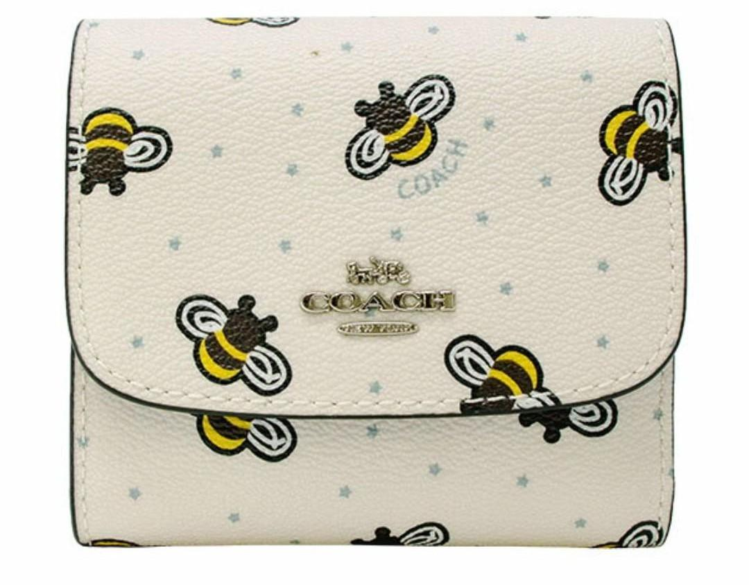Authentic Coach Small Wallet With Bee Prints (ABLE TO NEGO)