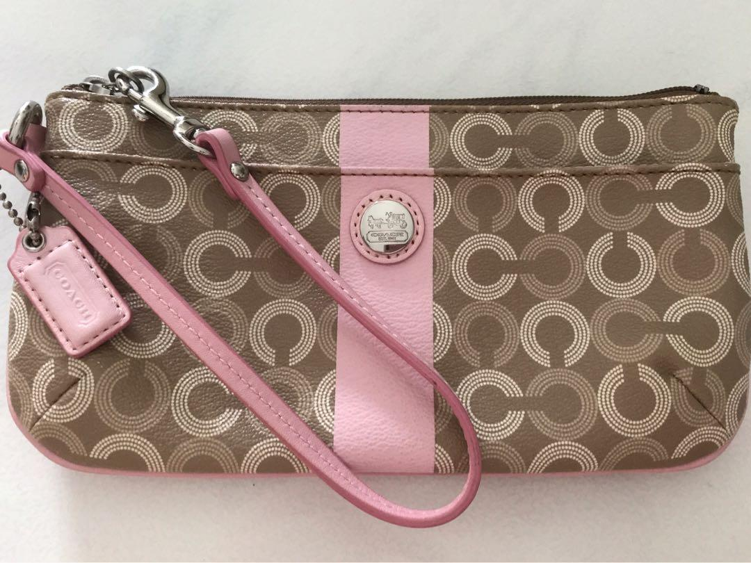 Authentic Coach wristlet wallet /pouch