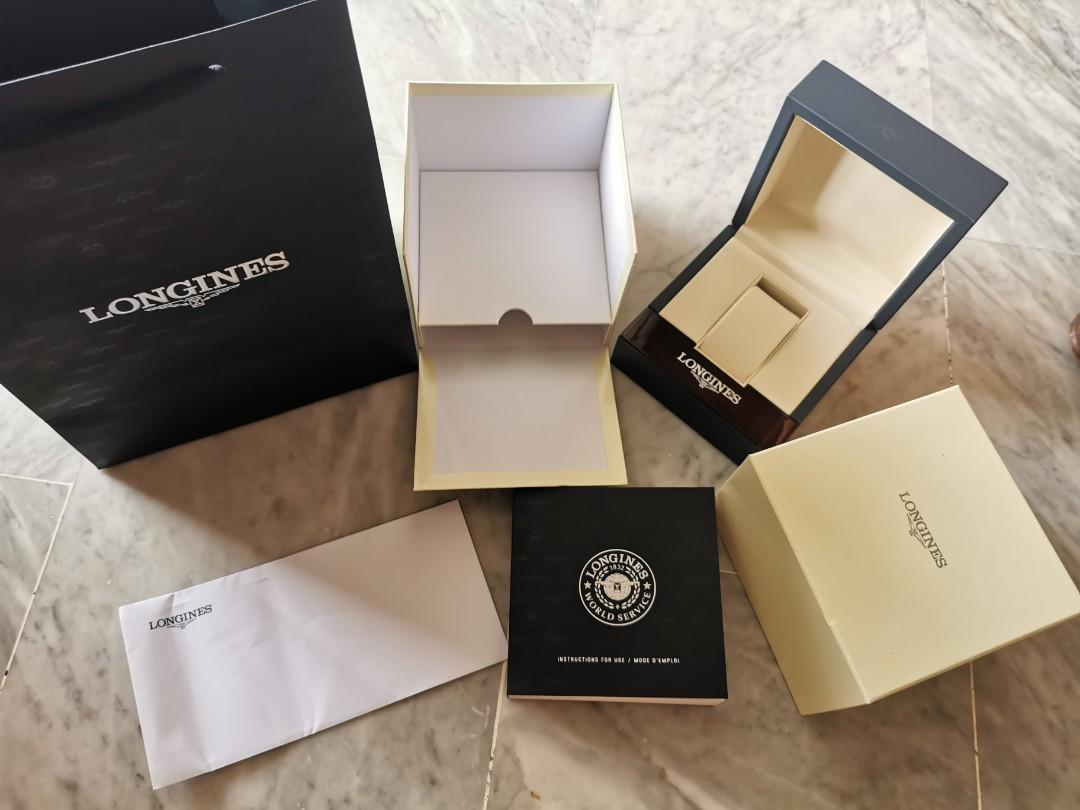 Authentic longines watch box