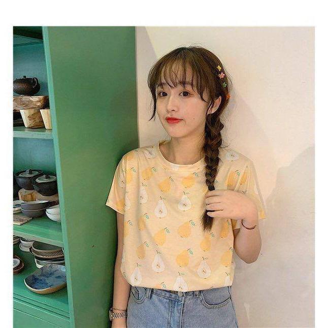 Baju Atasan Kaos Wanita Pear Edition Tee Korea