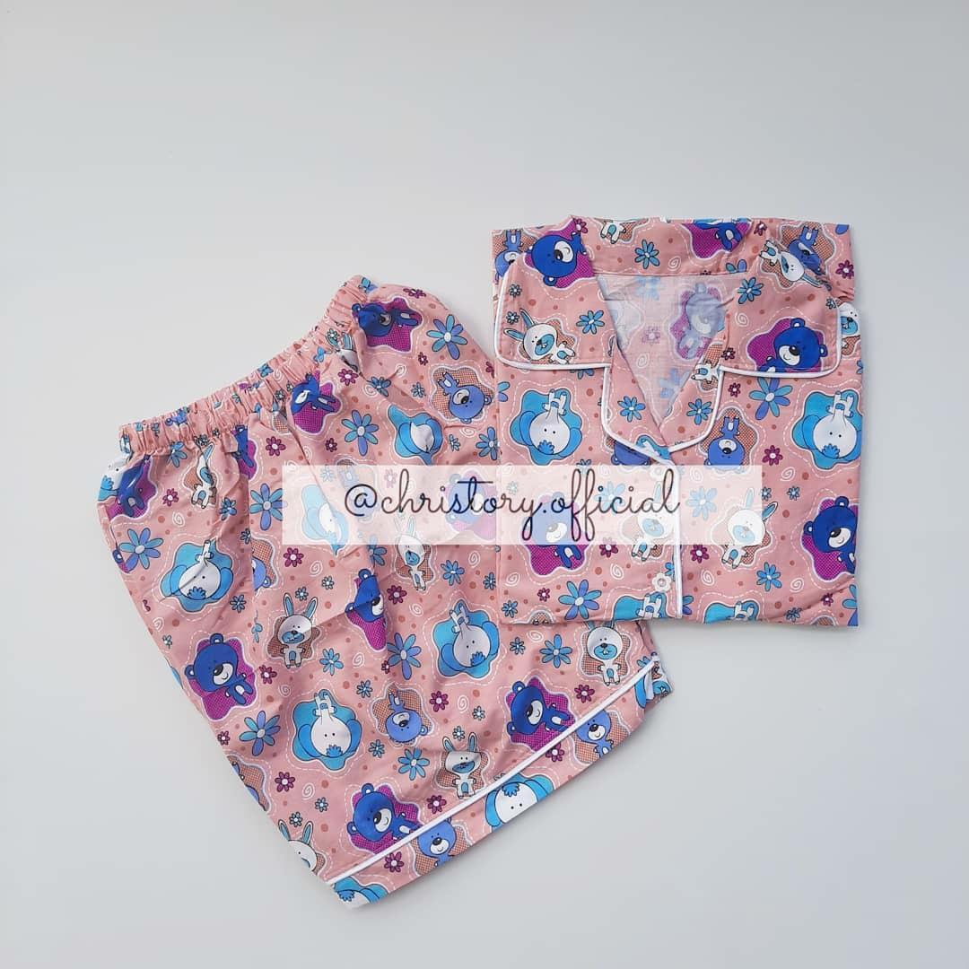 Piyama Lengan Pendek + Celana Pendek