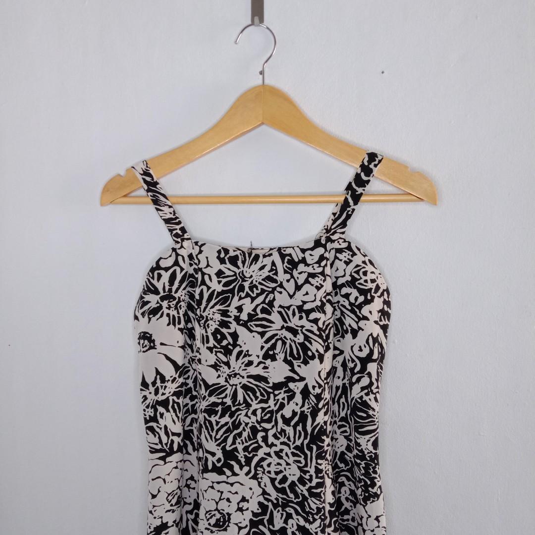 Black and White Long Dress